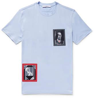 Givenchy Cuban-Fit Printed Cotton-Jersey T-Shirt - Men - Light blue