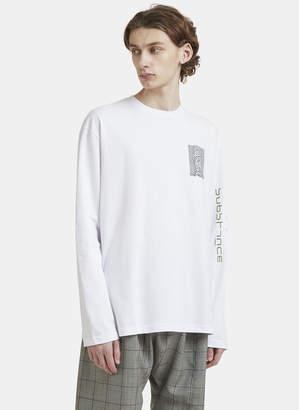 Raf Simons Joy Division Long Sleeve T-Shirt in White