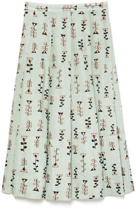 Marni Pleated Printed Skirt