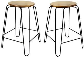 "Carolina Cottage Winston 24"" Counter Stool (Set of 2) - Carolina Chair and Table"