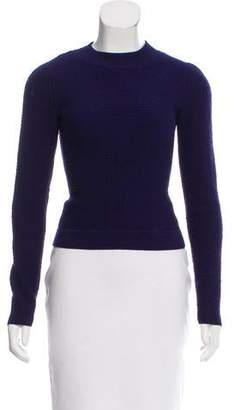 Alaia Wool-Blend Textured Top