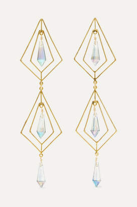 Mercedes Salazar Gold-plated Crystal Earrings - one size