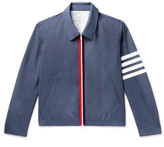 Thom Browne Slim-Fit Striped Shell Blouson Jacket - Men - Navy