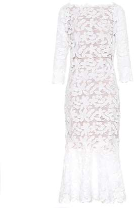 Oscar de la Renta Lace midi dress