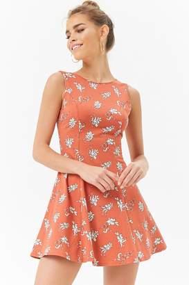 Forever 21 Floral Print Skater Dress