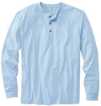 L.L. Bean L.L.Bean Men's Carefree Unshrinkable Tee, Traditional Fit Long-Sleeve Henley