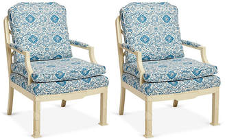 One Kings Lane Vintage E. Lambeth Chippendale Style Chairs,Set of 2 - Mark D. Sikes