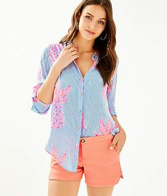 Lilly Pulitzer Sea View Button Down Top