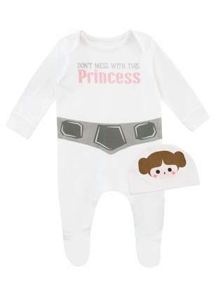 Star Wars Baby Girls' Princess Leia Footies and Hat Size 12-18M