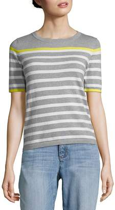 Autumn Cashmere Women's Breton Stripe Sweatshirt Top
