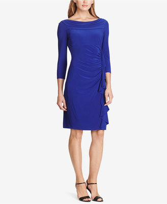 American Living Long-Sleeve Ruffled Jersey Dress $79 thestylecure.com