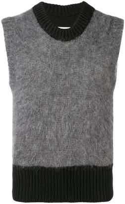 Maison Margiela colour block sleeveless sweater