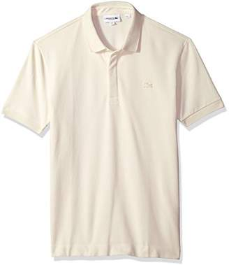 Lacoste Men's Short Sleeve Solid Stretch Pique Regular Fit Paris Polo
