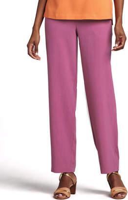 Go Silk Solid Silk Pants, Petite
