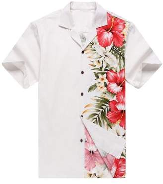 Hawaii Hangover Made in Hawaii Men's Hawaiian Shirt Aloha Shirt Side Floral Hibiscus White