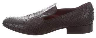 Celine Python Round-Toe Loafers