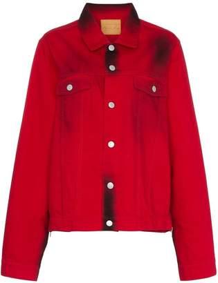 Martine Rose stained effect cotton denim jacket