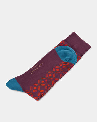 Ted Baker SAAP Spot diamond print cotton socks