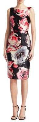 David Meister Sleeveless Floral Dress