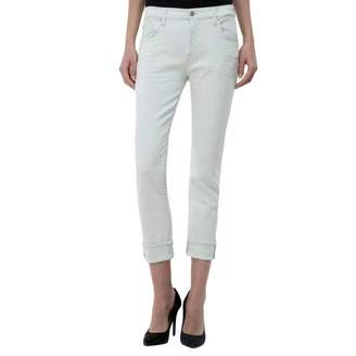White Relaxed Skinny Slim Fit Jeans