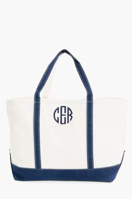 CB Station Navy Monogrammed Large Boat Tote