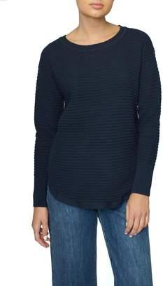 Part Two Navy Zip Sweater