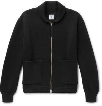 Arpenteur Ribbed Wool Zip-Up Cardigan