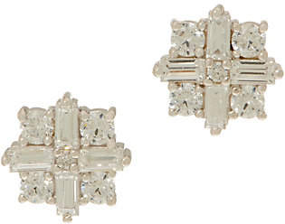 Diamonique TOVA for Star Stud Earrings,Platinum Clad