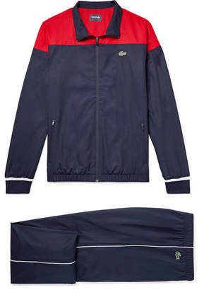 Lacoste Tennis - Colour-Block Shell Tracksuit - Men - Navy