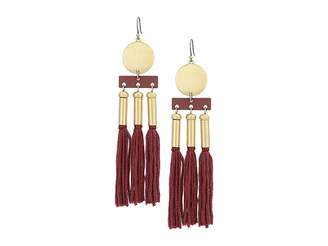 Lucky Brand Oversized Silk Statement Earrings