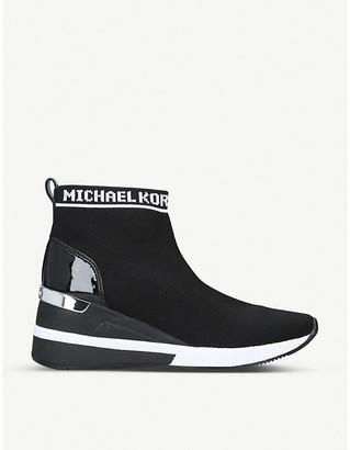 MICHAEL Michael Kors Skyler woven wedge boots