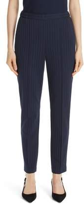 St. John Pinstripe Double Face Jersey Pants