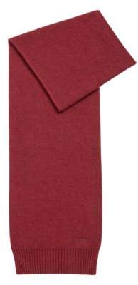 BOSS Hugo Knitted scarf tonal logo detailing One Size Dark Red