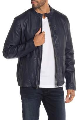John Varvatos Leather Racer Jacket