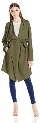 Kensie Women's Soft Trench Coat $150 thestylecure.com