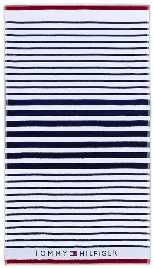 Navy Striped Beach Towel