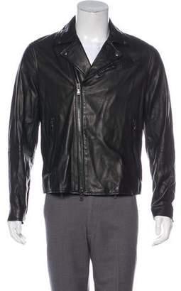 John Varvatos Lambskin Moto Jacket
