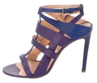 Elie Saab Leather Caged Sandals