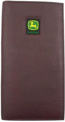 John Deere Leather Checkbook Wallet