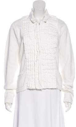 Magaschoni Pleated Knit Cardigan w/ Tags