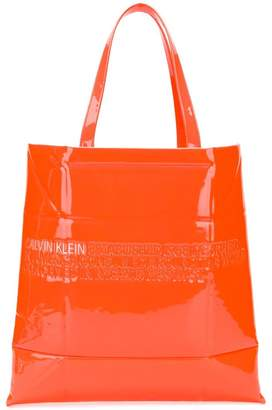 Free Shipping At Farfetch Calvin Klein Embossed Logo Tote Bag