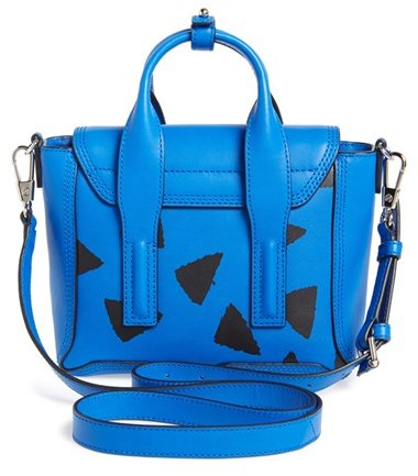 3.1 Phillip Lim 'Mini Pashli' Triangle Print Leather Satchel