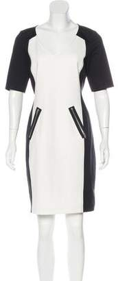 Rebecca Taylor Color-Block Midi Dress