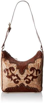 American West Annie Secret Zip-Top Structured Shoulder Bag