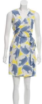 Diane von Furstenberg Sleeve-Less Wrap Dress