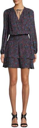 Parker Clementine Silk Floral-Print Short Dress