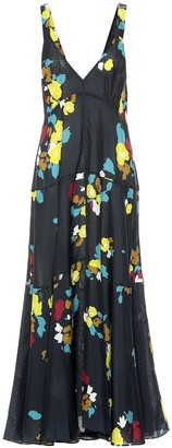 Maeve Lee Mathews floral silk maxi dress