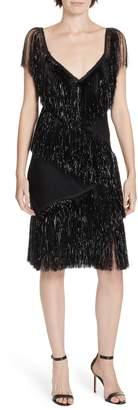 Diane von Furstenberg Olvera Fringe Dress
