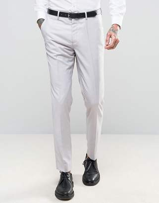 Devils Advocate Wedding Skinny Fit Pale Gray Suit Pants