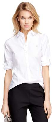 Brooks Brothers Petite Non-Iron Tailored-Fit Supima Cotton Dress Shirt